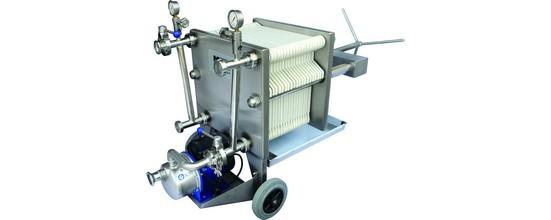 Filtro inox 40 x 40 - filtrazione a strati - Trolese, forniture enotecniche ed industriali